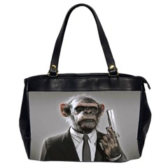 Monkey Business Oversize Office Handbag (Two Sides)