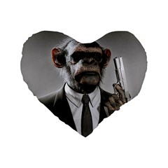 Monkey Business 16  Premium Heart Shape Cushion