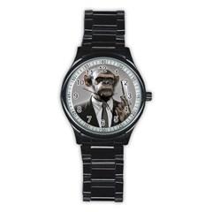 Monkey Business Sport Metal Watch (Black)