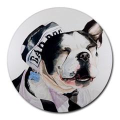 Bad Dog 8  Mouse Pad (round)