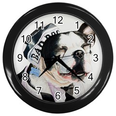 Bad Dog Wall Clock (Black)