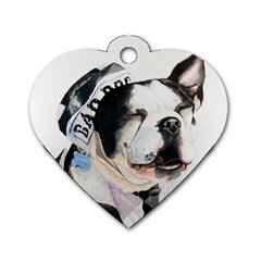 Bad Dog Dog Tag Heart (Two Sided)