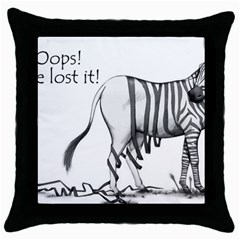 Lost Black Throw Pillow Case