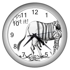 Lost Wall Clock (silver)