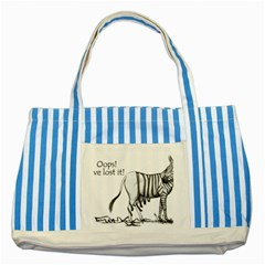 Lost Blue Striped Tote Bag