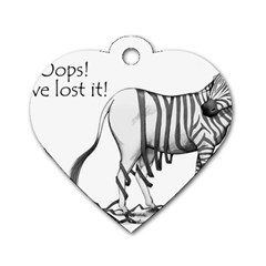 Lost Dog Tag Heart (one Sided)