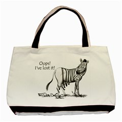 Lost Twin Sided Black Tote Bag