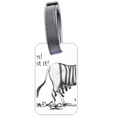 Lost Luggage Tag (two Sides)