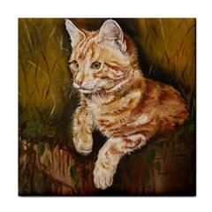Cute Cat Ceramic Tile