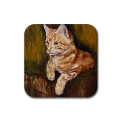 Cute Cat Drink Coaster (Square)