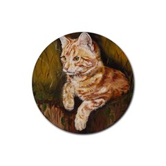 Cute Cat Drink Coasters 4 Pack (round)