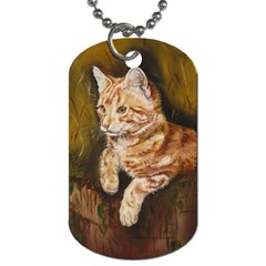 Cute Cat Dog Tag (one Sided)