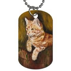 Cute Cat Dog Tag (One Sided)