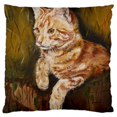 Cute Cat Large Cushion Case (One Side)