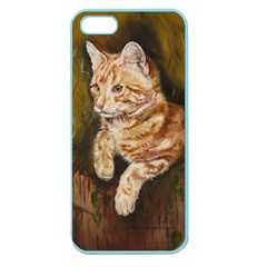 Cute Cat Apple Seamless Iphone 5 Case (color)