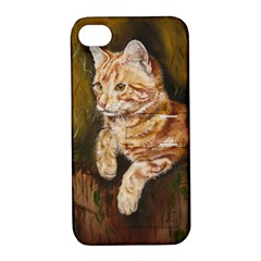 Cute Cat Apple iPhone 4/4S Hardshell Case with Stand