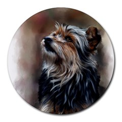 Puppy 8  Mouse Pad (Round)