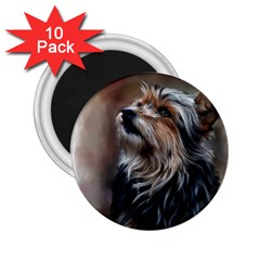 Puppy 2 25  Button Magnet (10 Pack)