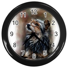 Puppy Wall Clock (Black)