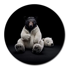 Bear in Mask 8  Mouse Pad (Round)