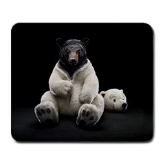 Bear In Mask Large Mouse Pad (rectangle)