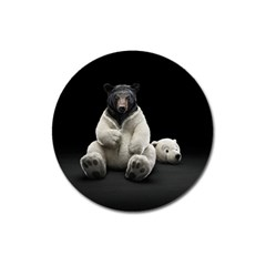 Bear In Mask Magnet 3  (round)