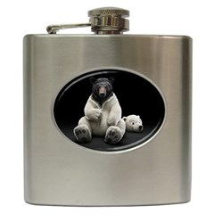 Bear in Mask Hip Flask