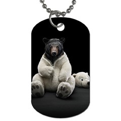 Bear In Mask Dog Tag (two Sided)
