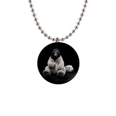Bear in Mask Button Necklace