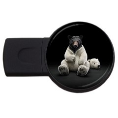 Bear in Mask 4GB USB Flash Drive (Round)