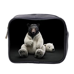 Bear in Mask Mini Travel Toiletry Bag (Two Sides)