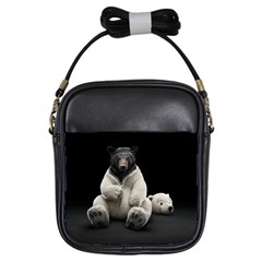 Bear in Mask Girl s Sling Bag
