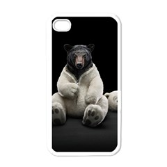 Bear in Mask Apple iPhone 4 Case (White)