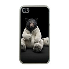 Bear in Mask Apple iPhone 4 Case (Clear)