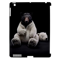 Bear In Mask Apple Ipad 3/4 Hardshell Case (compatible With Smart Cover)