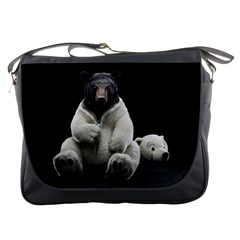 Bear In Mask Messenger Bag