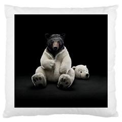 Bear in Mask Large Cushion Case (One Side)