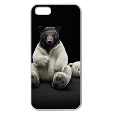 Bear in Mask Apple Seamless iPhone 5 Case (Clear)