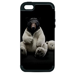 Bear in Mask Apple iPhone 5 Hardshell Case (PC+Silicone)