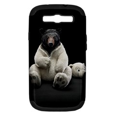 Bear in Mask Samsung Galaxy S III Hardshell Case (PC+Silicone)