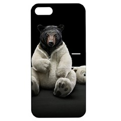 Bear in Mask Apple iPhone 5 Hardshell Case with Stand