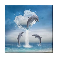 The Heart Of The Dolphins Ceramic Tile