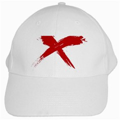 red x White Baseball Cap