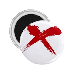 red x 2.25  Button Magnet