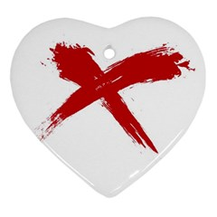 Red X Heart Ornament