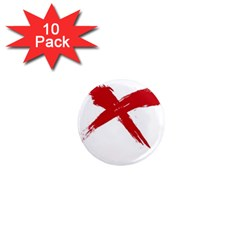 red x 1  Mini Button Magnet (10 pack)