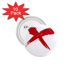 red x 1.75  Button (10 pack)