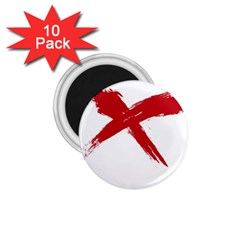 Red X 1 75  Button Magnet (10 Pack)