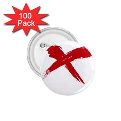 Red X 1 75  Button (100 Pack)