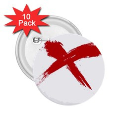 red x 2.25  Button (10 pack)